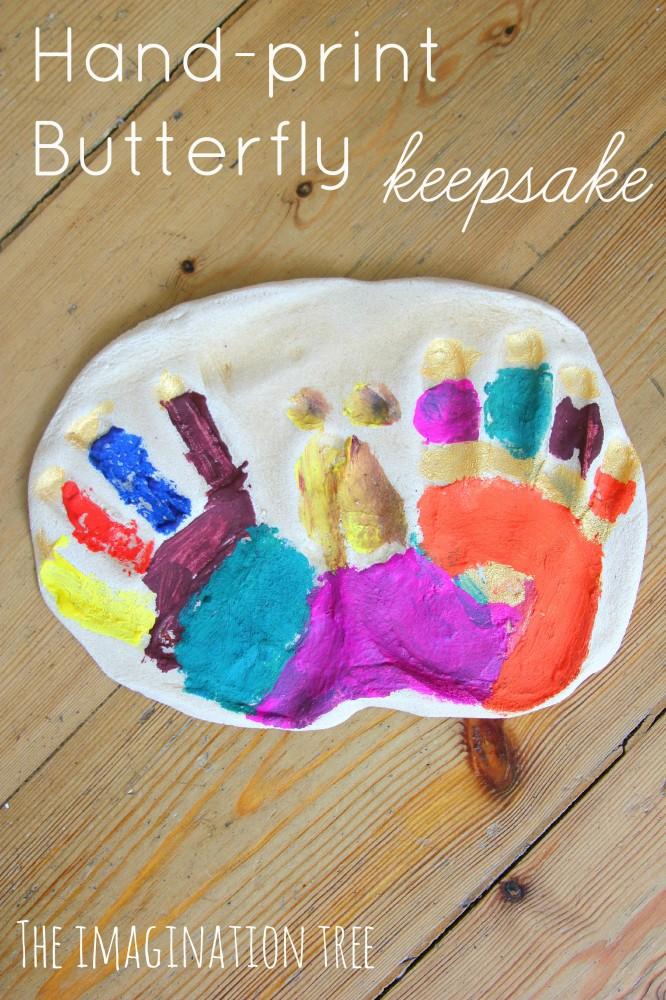 Salt Dough Hand-print Butterfly Keepsake