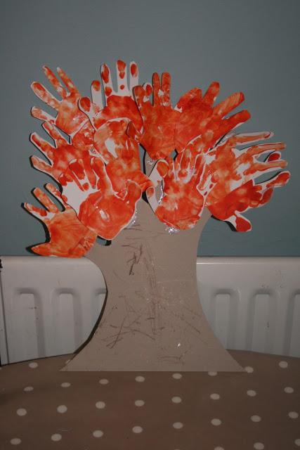 Autumn Tree Handprints