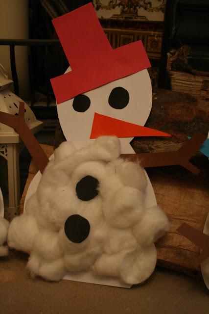 Cotton Wool Snowmen