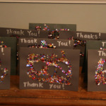 Glitter Thank You Cards!