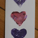 Potato Print Heart Cards