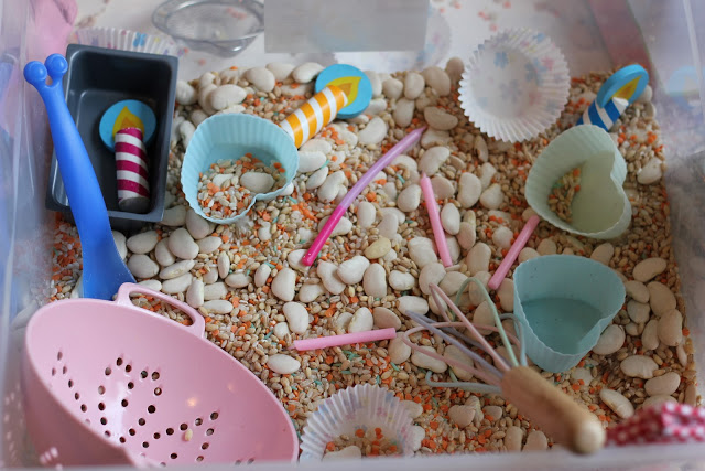 Baking Sensory Tub and Imaginative Play
