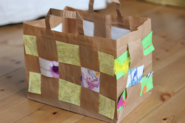 Easy Paper Bag Weaving
