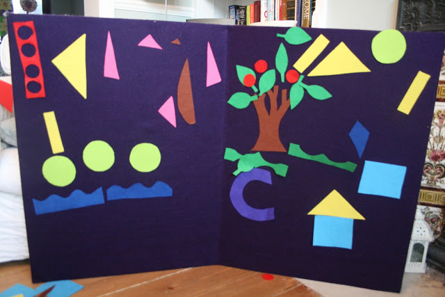Giant Felt Shape Pictures