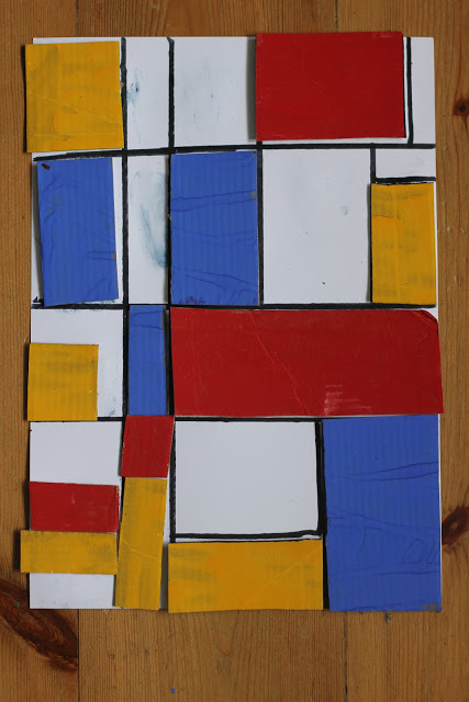 Inspired by Mondrian: Art for Kids