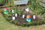 organic vegetable patch for children