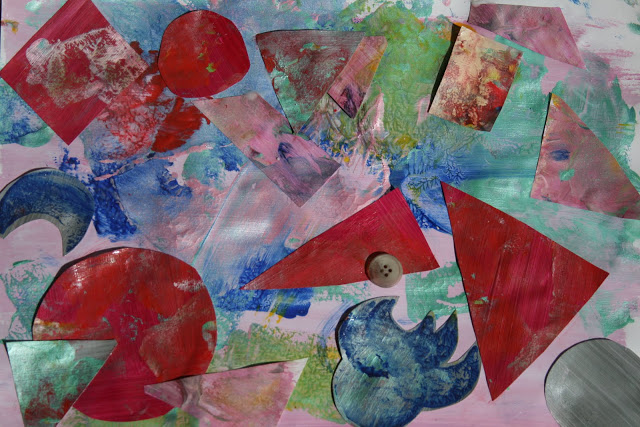 Paint Layer Collage and Portraits