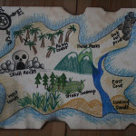 DIY Pirate Map and Treasure Hunt Games!