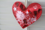 Stuffed heart collage card