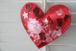 Stuffed heart collage card