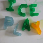 Alphabet Ice Block Play