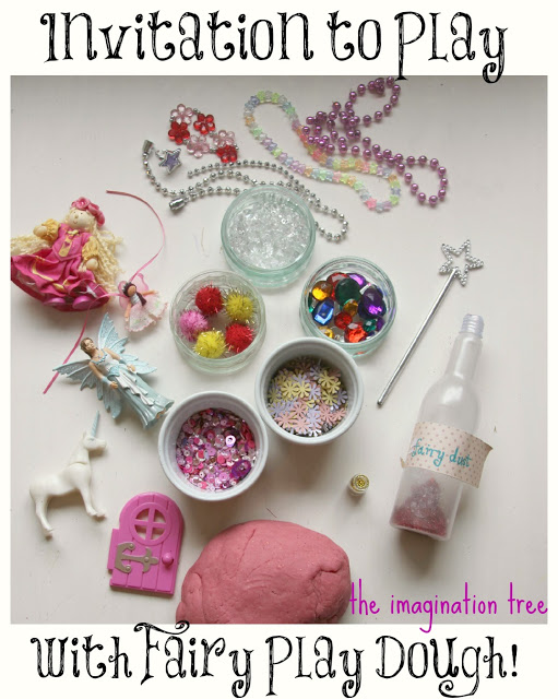 invitation to play with fairy sparkle play dough from http://theimaginationtree.com