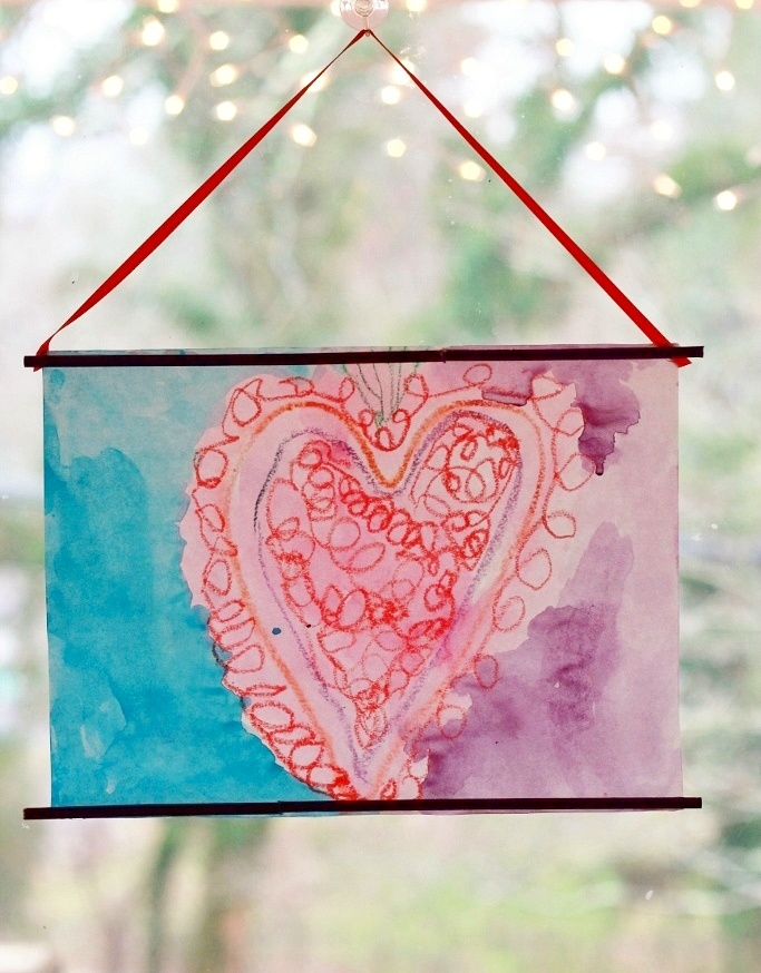Melted Crayon Valentine Art Project for Kids
