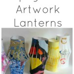 Upcycled Lanterns from Kids' Art