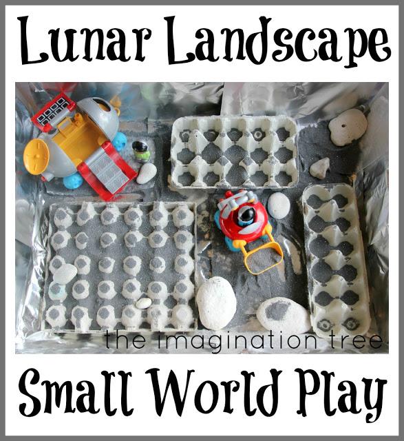 Lunar Landscape Sensory Small World Play