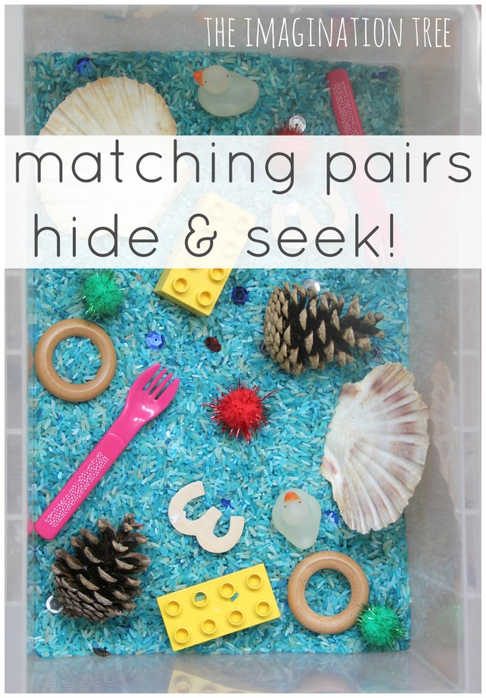 Toddler Play: Matching Pairs Hide and Seek Game