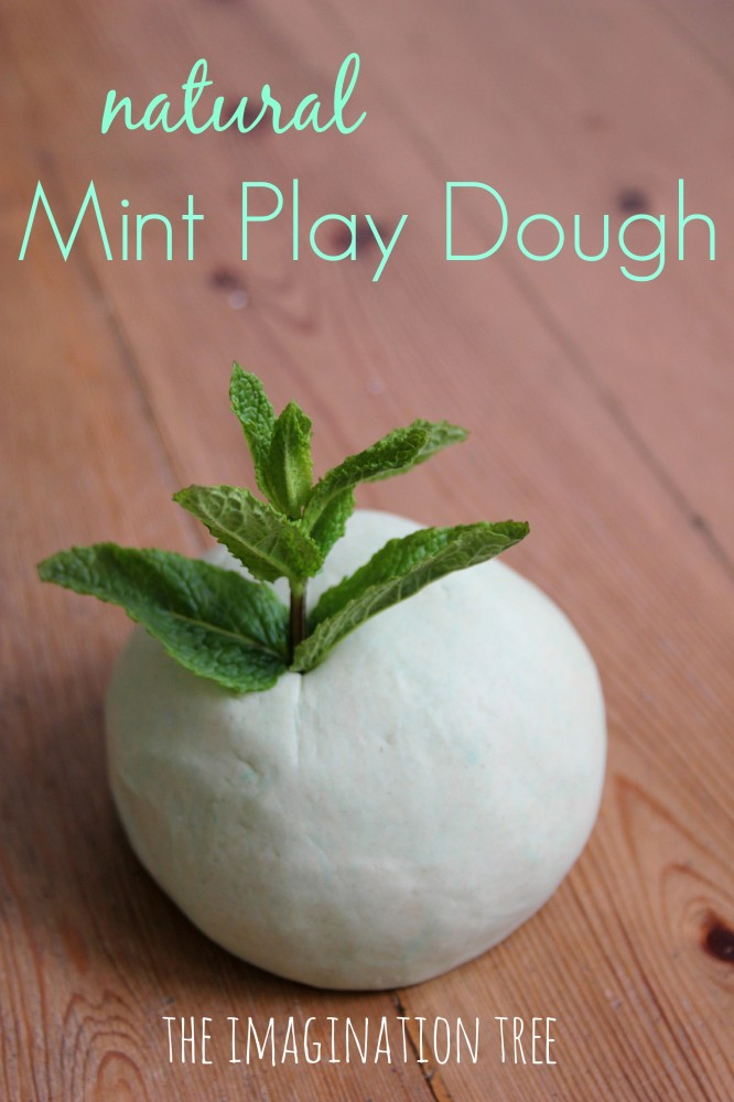 Natural Mint Play Dough Recipe