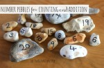 Number pebbles for counting and addition maths activities