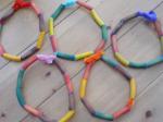 Rainbow Pasta Threading Necklaces