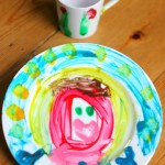 Painted Plate and Coffee Cup for Father's Day