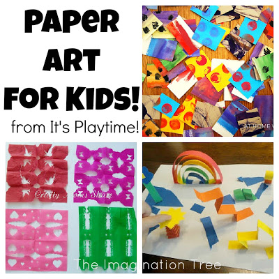 Paper Art for Kids [from It's Playtime!]