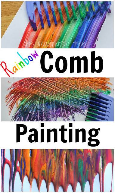 Rainbow Comb Paintings
