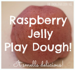 Raspberry Jelly Valentine's Play Dough