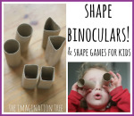 shape binoculars and shape hunting maths game for kids