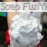 Soap Fluff Sensory Play