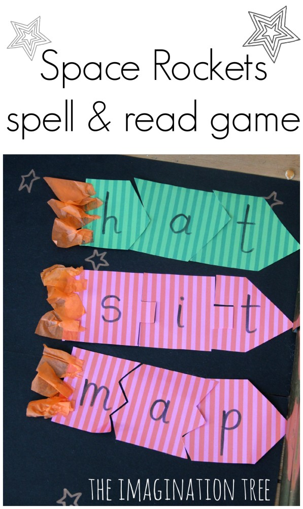 Space Rockets Spell and Read Game