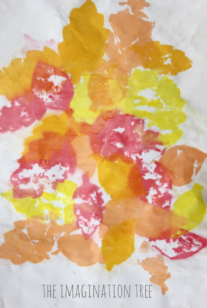 Leaf Art: Tissue Paper Bleeding