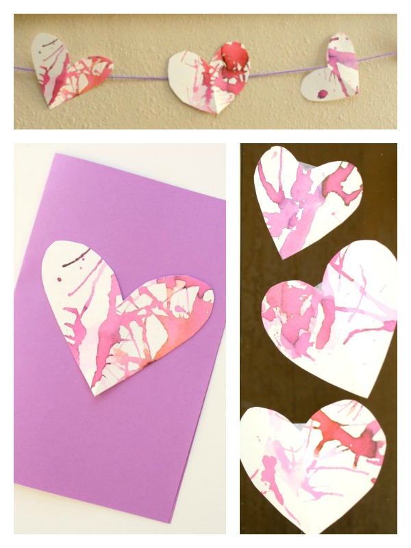 Straw Blown Hearts Valentine S Cards For Kids The Imagination Tree