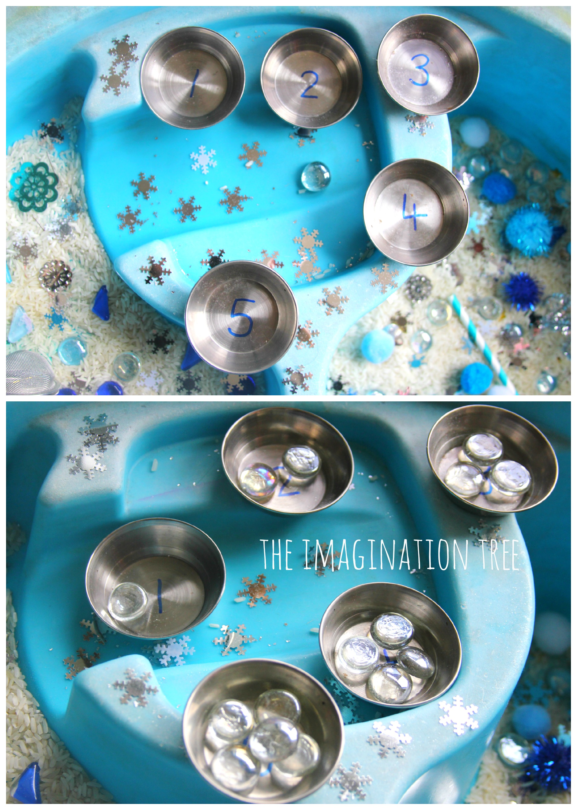 Winter Counting Sensory Table The Imagination Tree