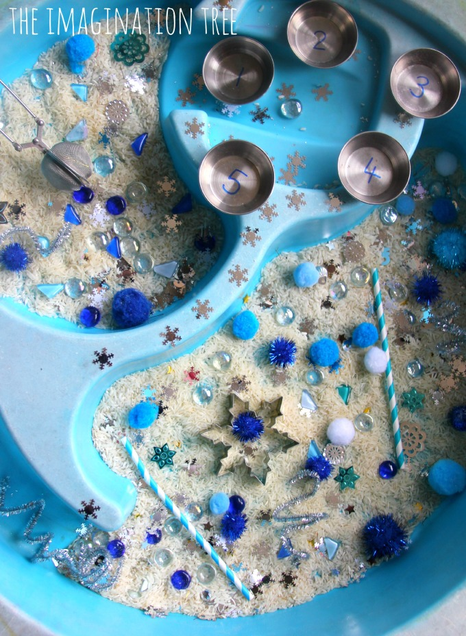 Winter themed sensory table