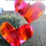 Wire Coat Hanger Heart Sun-Catchers