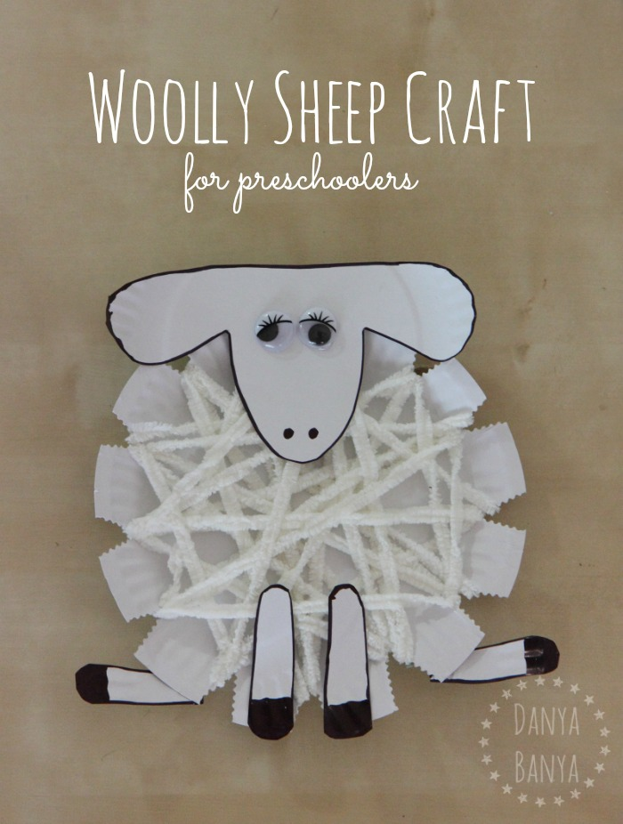 Woolly sheep or lamb craft for preschoolers