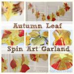 Autumn Leaf Spin Art Garland