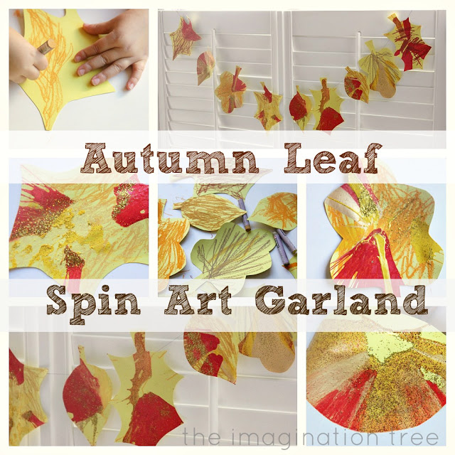 Autumn Leaf Spin Art Garland