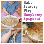 Baby Sensory Play: Raspberry Spaghetti