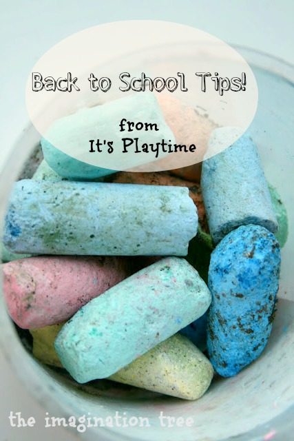 Back to School Tips! from It's Playtime