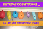 Balloon Surprise Birthday Countdown