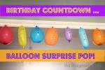 Balloon Surprise Birthday Countdown
