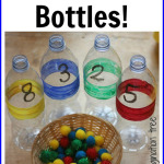 Sorting and Counting bottles for mathematical play