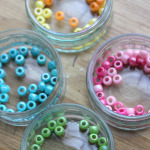 Threading with Pipe Cleaners and Beads