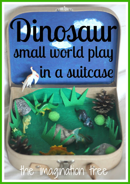 Dinosaur Small World Play In A Suitcase The Imagination Tree