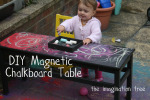 DIY: Magnetic Chalkboard Table