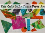 Eric Carle style tissue paper print art by The Imagination Tree