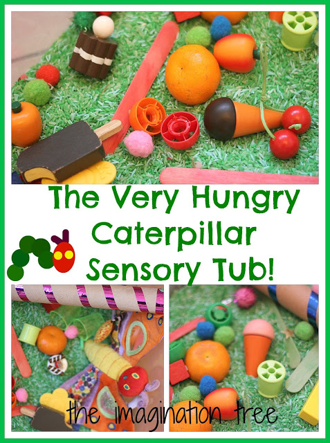 The Very Hungry Caterpillar Sensory Storytelling Tub