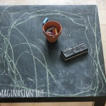 DIY Indoor Chalkboard Table