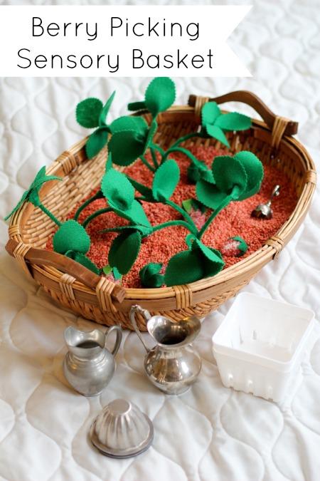 Strawberry Scented Sensory Basket